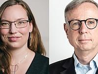 Dr. med. Markus Müschenich, Vorstand Bundesverband Internetmedizin (r) und Laura Wamprecht, Geschäftsführerin von Flying Health