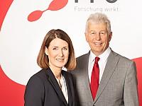 Henrietta Egerth und Klaus Pseiner, Geschäftsführer FFG - Österreichische Forschungsförderungsgesellschaft mbH
