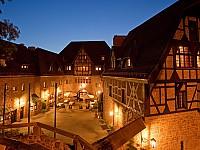 Verträumte Abendstimmung im Romantik Hotel auf der Wartburg