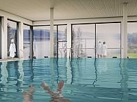 20 Meter langes Schwimmbecken mit Panoramablick aufs Zeulenrodaer Meer