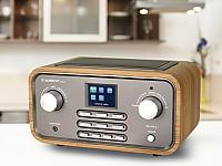 Nicht nur in neuem Style: Hybridradio im Retro-Look, mit Stereo-Lautsprechern und brillantem Farbdisplay