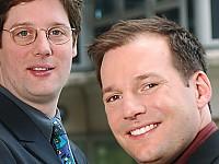Ralph Kulessa, Geschäftsführer MusicTrace und Frank Siebenhaar, Audio Watermarking MusicTrace (vlnr)