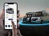 Mit der HYMER Connect App für die Zukunft des Reisens gerüstet