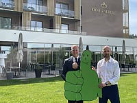 """""""Wir werden grüner"""" - so das Ziel von HKA-Direktor Marc Cantauw (li.) und Michael Börner (re.)."""