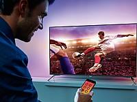 Philips Gerät mit Ambilight Technologie zaubert EM-Stimmung hinters TV Gerät