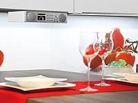 Das Hybridradio DABMAN i450 fügt sich mit einer Unterbaumontage perfekt in jede Küche ein