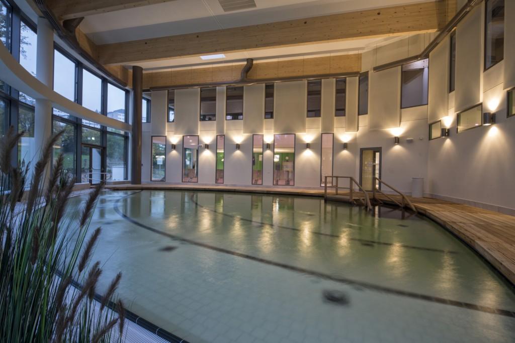 Der Salzsee der Soletherme - Mit Bademantelgang vom Hotel aus erreichbar