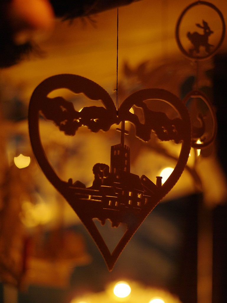 Wartburgsilhouette als Weihnachtsschmuck