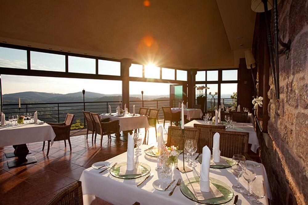 Wunderbarer Ausblick vom Hotelrestaurant
