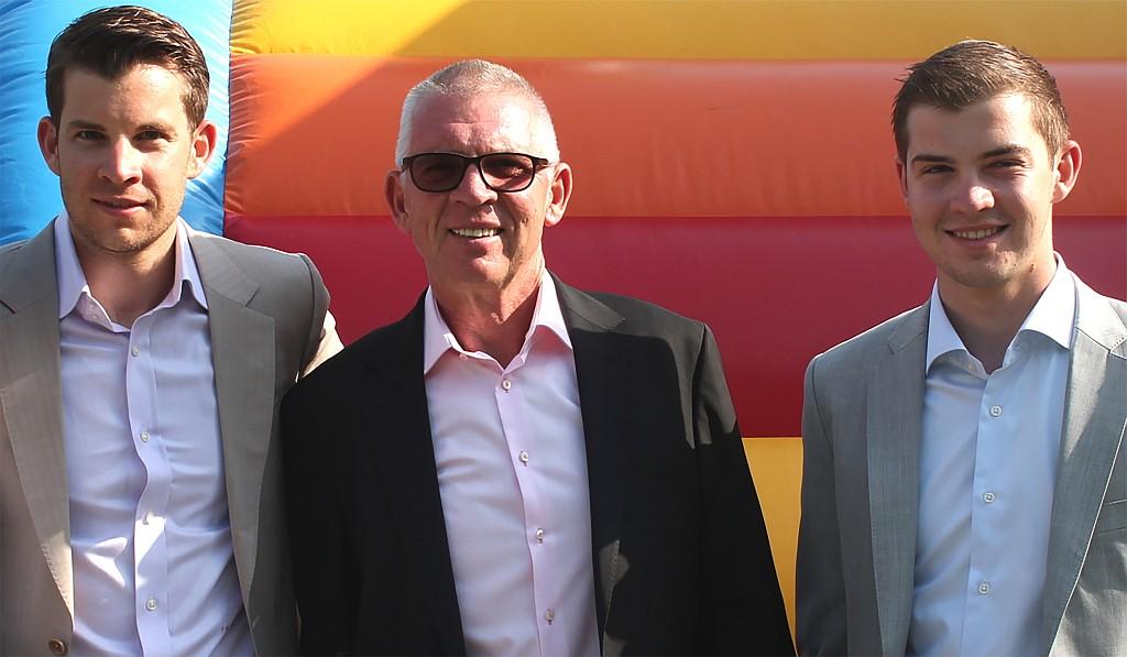 Die Eigentümerfamilie Mayer - Florian, Ernst und Julian