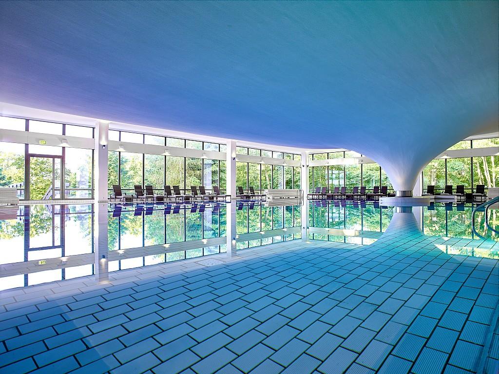 Die Schwimmhalle, ein architektonisches Highlight