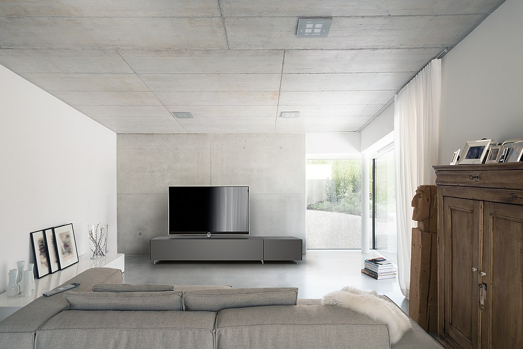 Die neuen Spectral-Möbel in elegantem Design gemeinsam mit TV-Hersteller Loewe vereint.