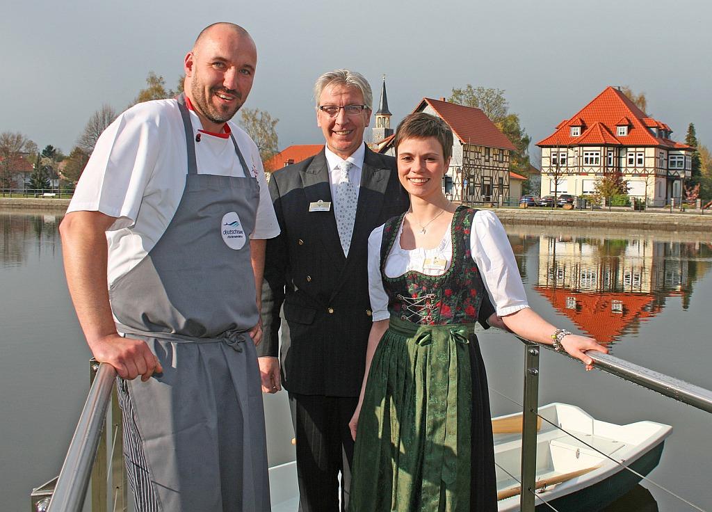 Gastgeber der Veranstaltung Kulinarik im Sommer Küchenchef Barth (li) und Hoteldirektor Fillafer