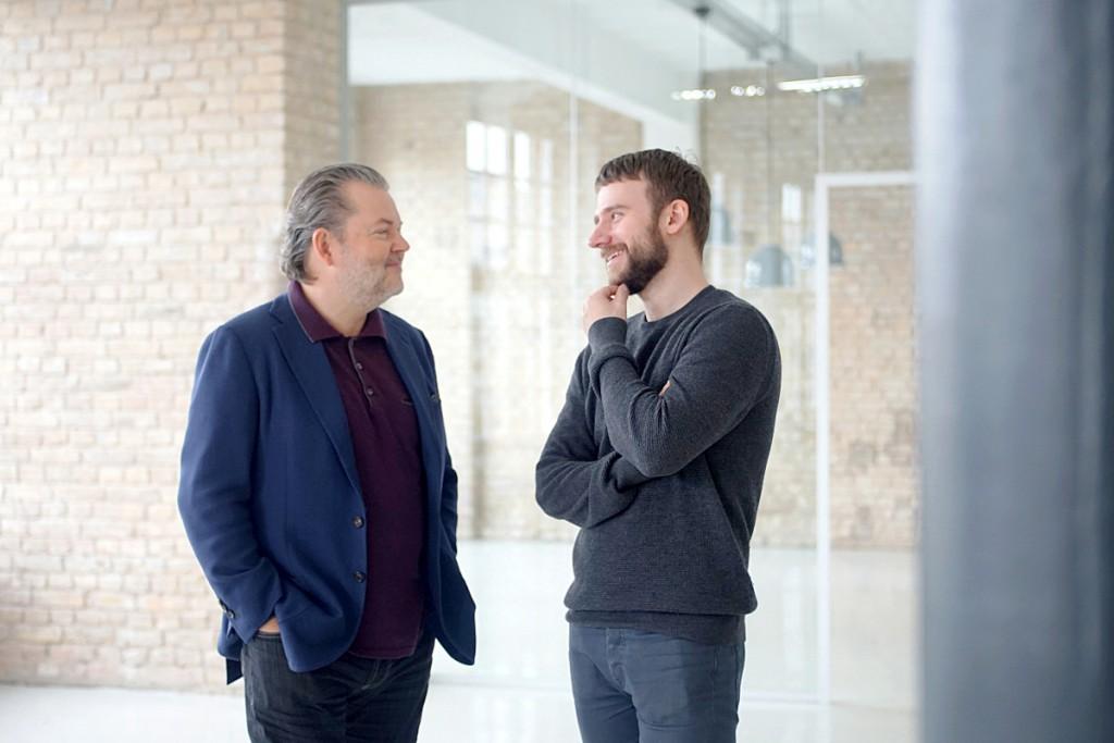 Idagio Gründer Till Janczukowicz (links) mit Geschäftspartner Christoph Lange