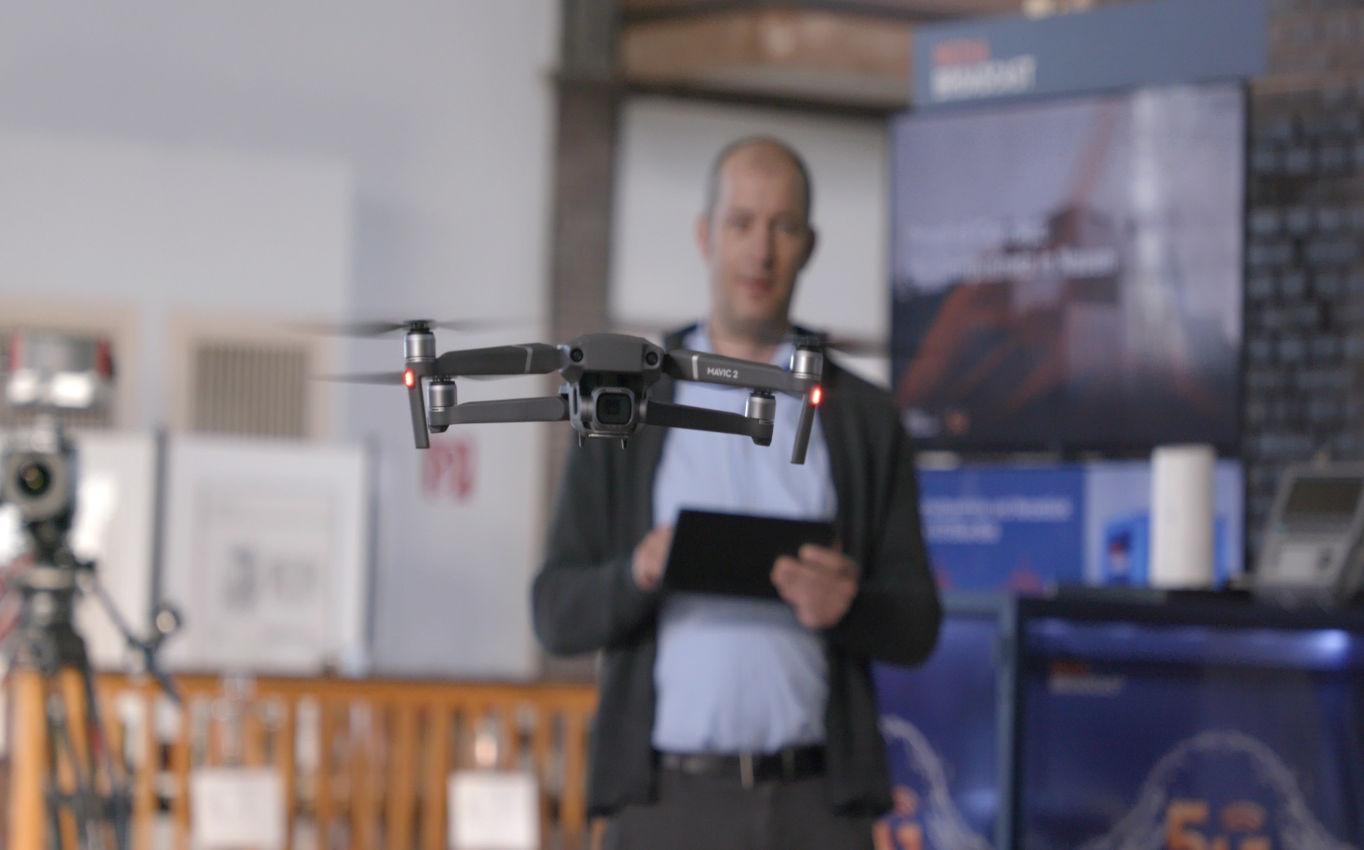 Erster 5G Use Case mit Drohne