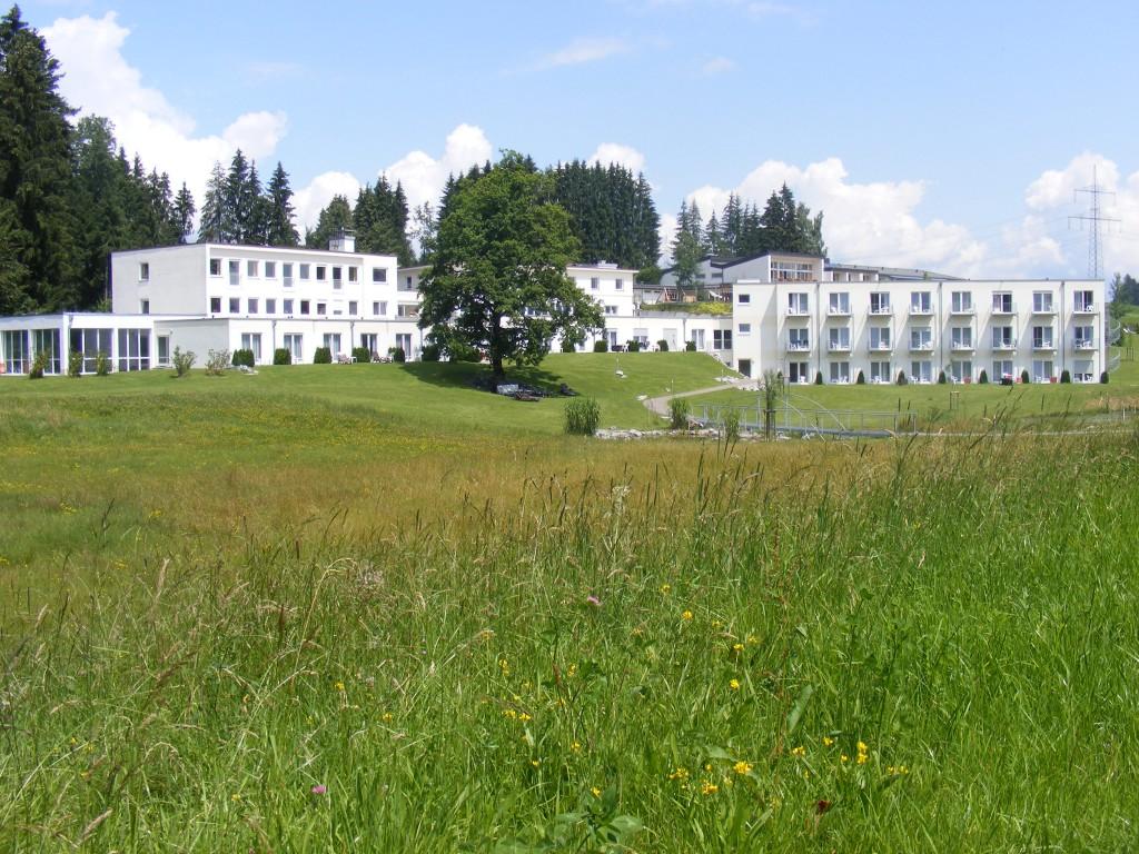 Die Privatklinik Hubertus, eine von zwei Panorama-Fachklinik in Scheidegg