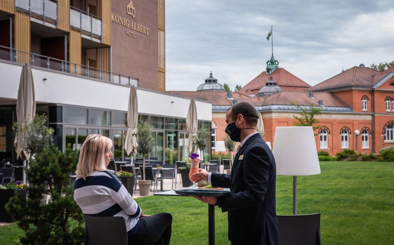 Endlich wieder genießen – das Hotel König Albert ist ab 19. Juni geöffnet.