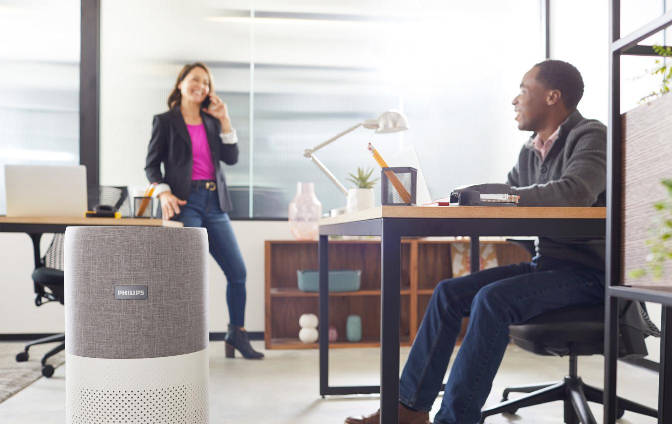 Philips Luftreiniger geben mehr Sicherheit und Wohlbefinden am Arbeitsplatz