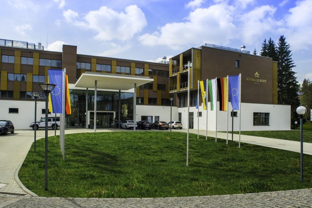 Außenansicht des Hotels - Willkommen in Bad Elster