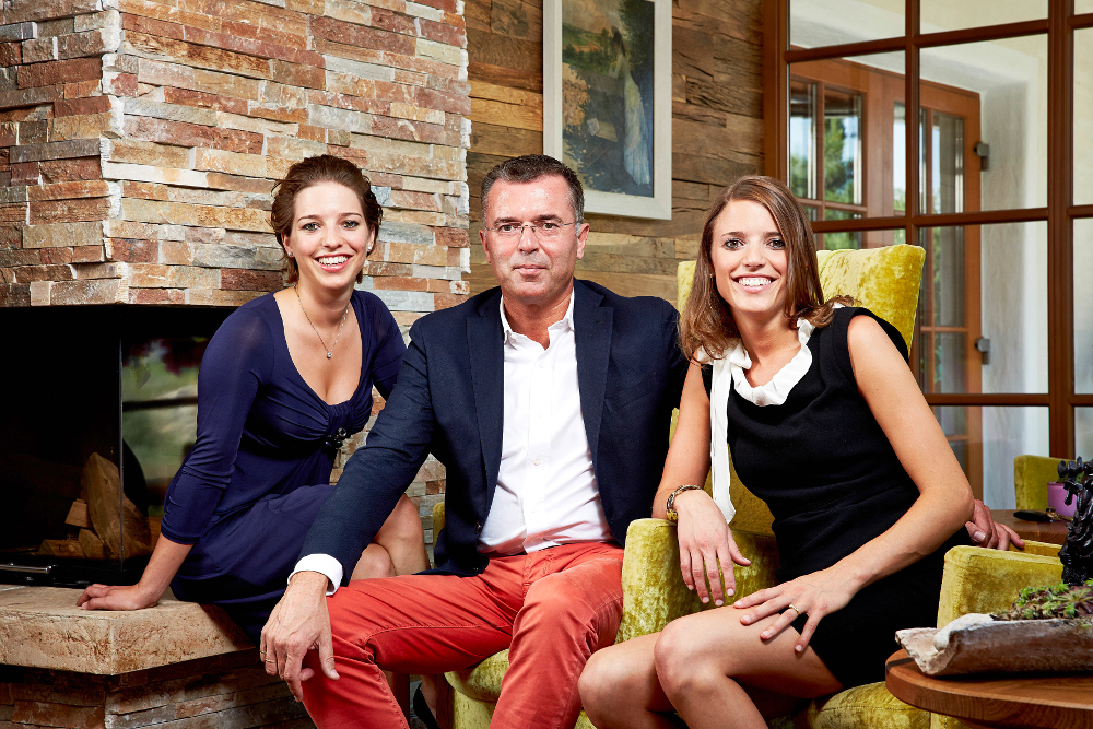 Die Gastgeberfamilie: Christina, Johann und Elisabeth Mauracher