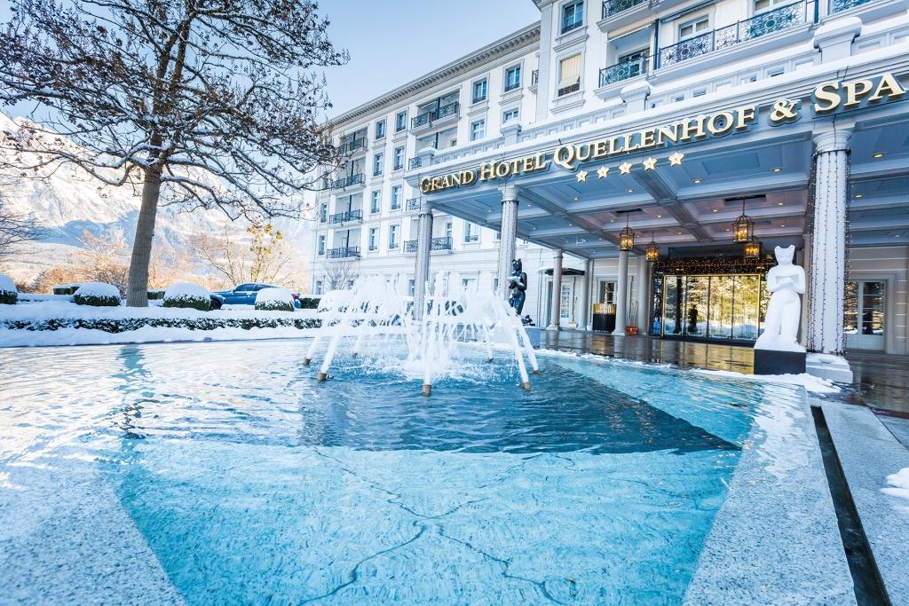 Winterliche Traumkulisse - Das Grand Resort Bad Ragaz