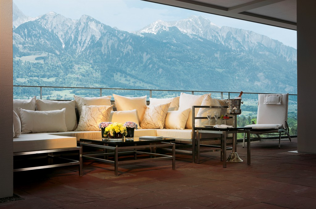 Spektakuläre Aussicht – Die Penthouse Suite in den Spa Suites des Grand Resort Bad Ragaz