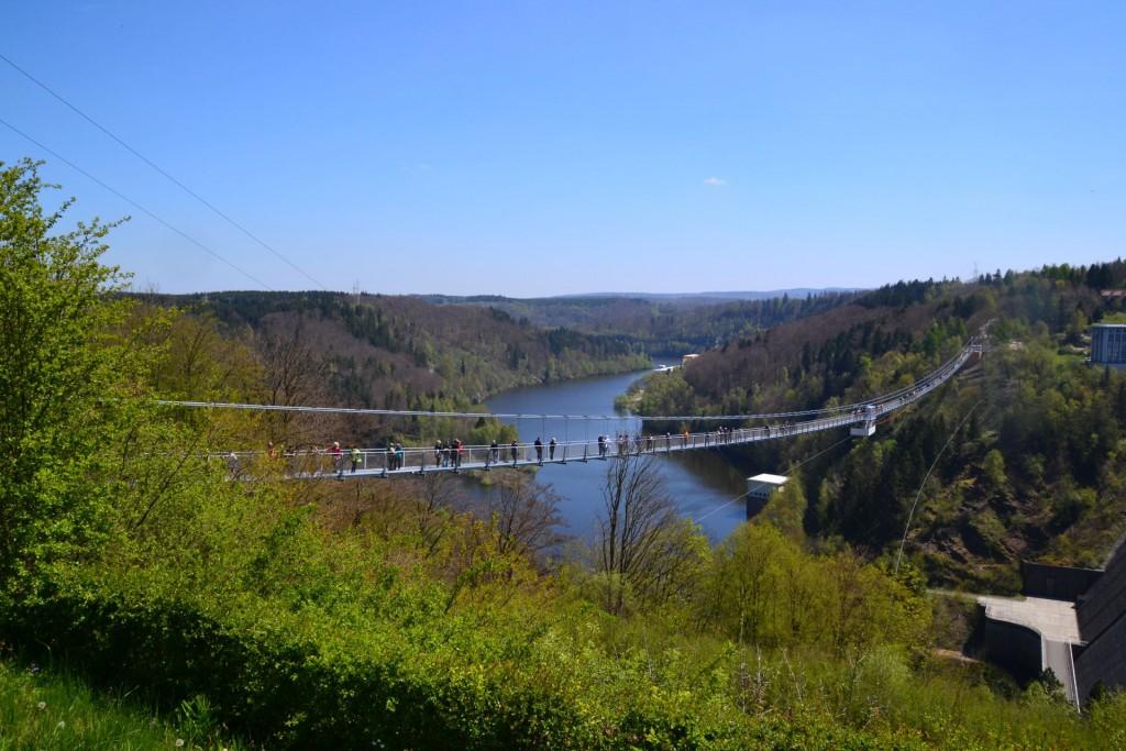 Anziehungspunkt Harz - spektakuläre neue Hängebrücke über die Rappbodetalsperre