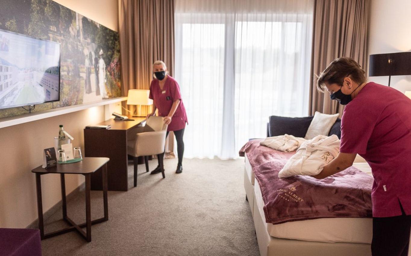 Akribische Vorbereitung – das Housekeeping sorgt für den letzten Schliff in den 108 Zimmern.