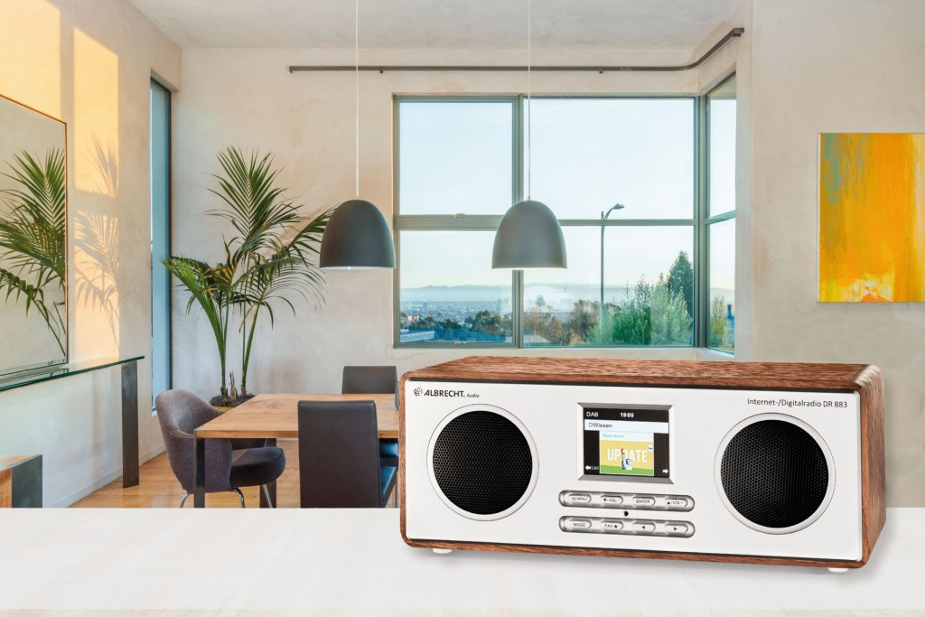 Das DR 883 ist durch sein zeitloses Design ein Schmuckstück für jedes Zimmerimmer